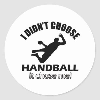 HANDBAL DESIGNS CLASSIC ROUND STICKER