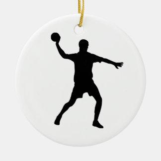 Handball Ceramic Ornament