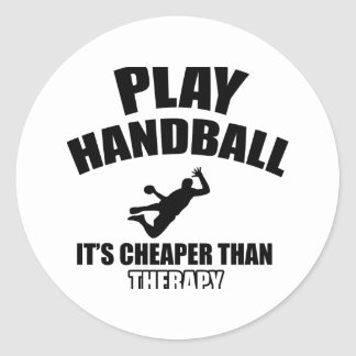 Handball  design classic round sticker