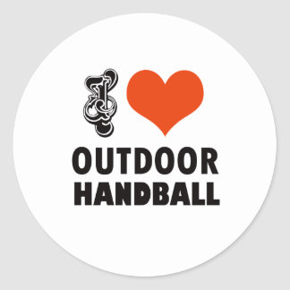 Handball design classic round sticker