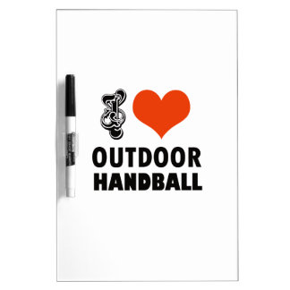 Handball design dry erase board