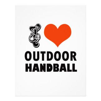 Handball design letterhead