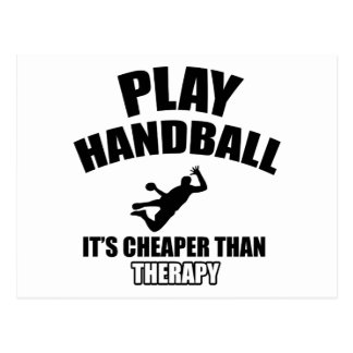 Handball  design postcard