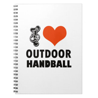 Handball design spiral notebook
