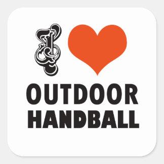 Handball design square sticker