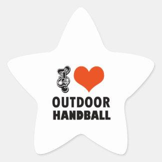 Handball design star sticker