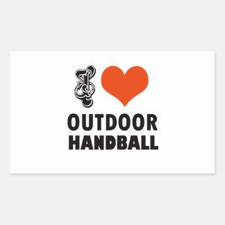 Handball design sticker