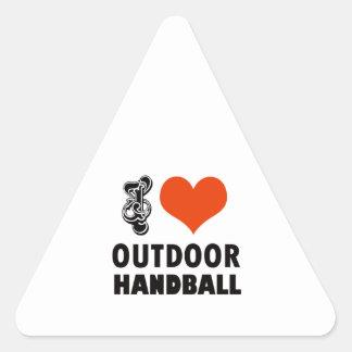 Handball design triangle sticker