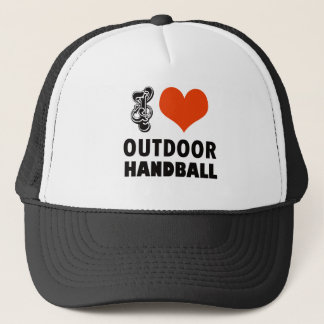 Handball design trucker hat