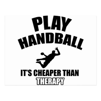 Handball designs postcard