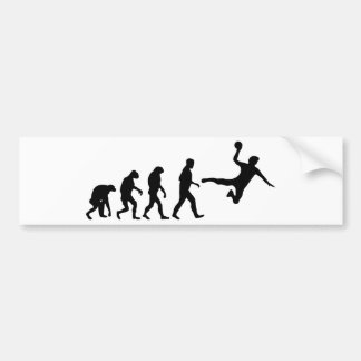 handball evolution bumper sticker