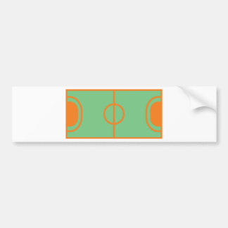 handball field icon bumper sticker
