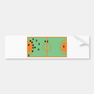 handball field with players icon bumper sticker