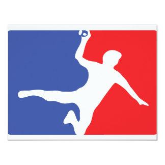 """Handball Legend icon 4.25"""" X 5.5"""" Invitation Card"""