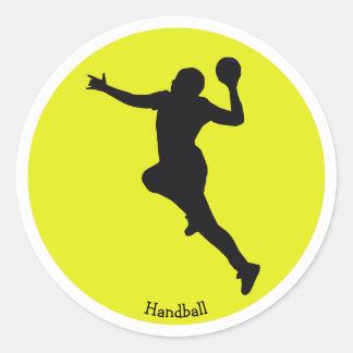 Handball Player Classic Round Sticker
