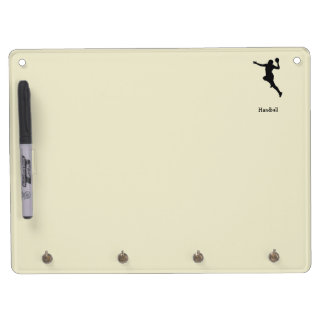 Handball Player Dry Erase Board With Keychain Holder