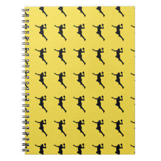Handball Player Spiral Notebook