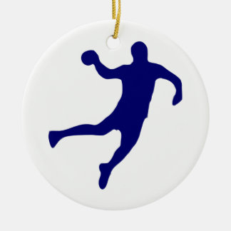 Handball Silhouette Ceramic Ornament