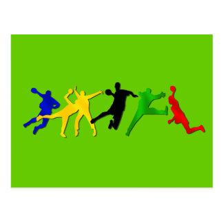 Handball team and players postcards
