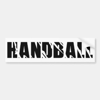 handball text bumper sticker