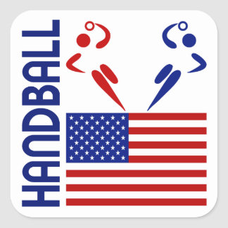 Handball United States Square Sticker