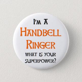 handbell ringer 2 inch round button