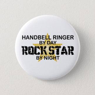 Handbell RInger Rock Star by Night 2 Inch Round Button
