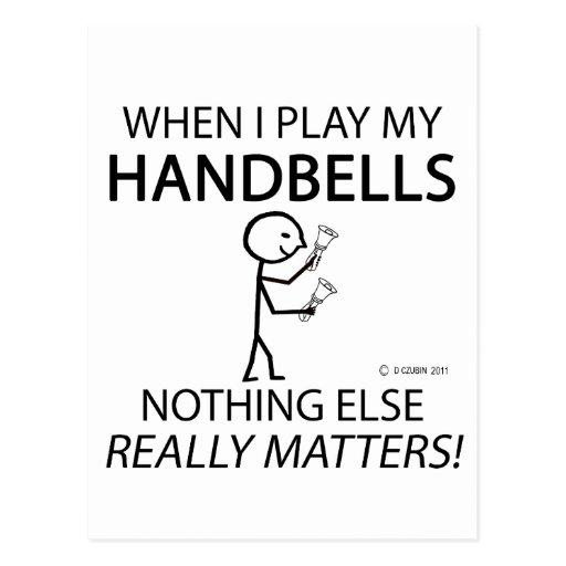 Handbells Nothing Else Matters Postcard