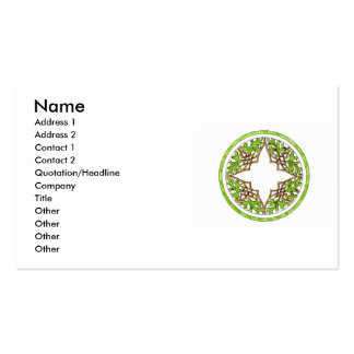 Handcolored Victorian round ornament Business Card Template
