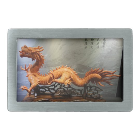 Handcrafted Coral Dragon Belt Buckle