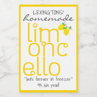 Handcrafted Limoncello Bottle Label |