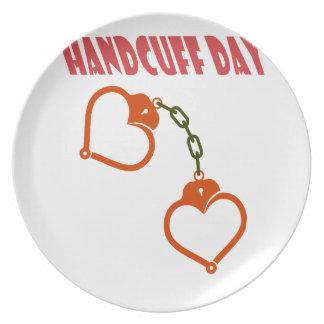 Handcuff Day - Appreciation Day Plate