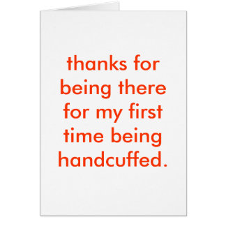 handcuffed card