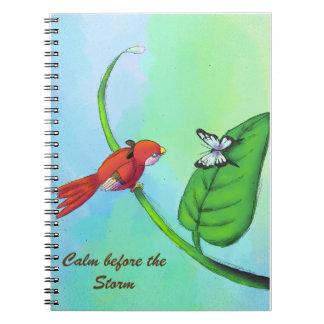 """""""Handdrawn Baby Bird"""" Notebook"""