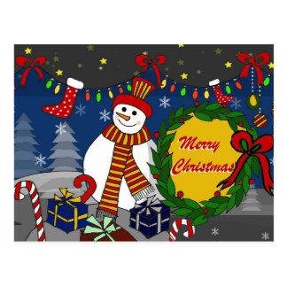 Handdrawn Christmas postcards