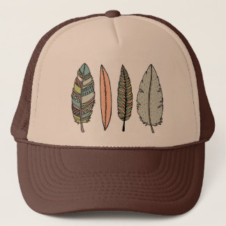 handdrawn feather hat