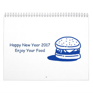 Handdrawn Food Illustration Calendar 2017