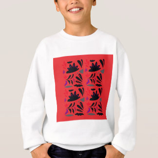 HANDDRAWN LACE VINTAGE ORNAMENTS. ENJOY ART SWEATSHIRT
