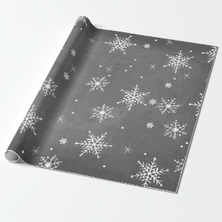 Handdrawn Snowflakes Collection Wrapping Paper