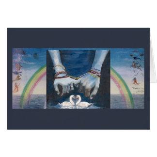 Handfasting card with Rainbow
