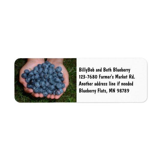 Handful of Fresh Blueberries Return Address Label