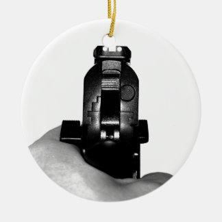 Handgun Ceramic Ornament