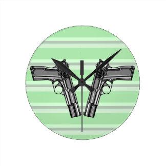 Handguns, Pistols, Firearms Wallclock