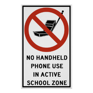 Handheld Phone Use Prohibited Poster