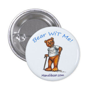 Handi-Bear Cares Button for Adult