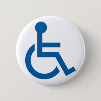 Handicap1 2 Inch Round Button