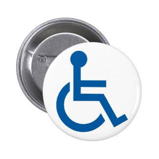 Handicap1 2 Inch Round Button