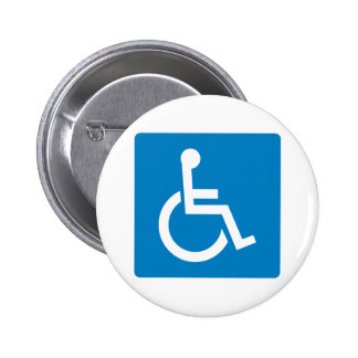 Handicap Accessibility Highway Sign 2 Inch Round Button