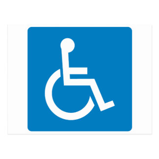Handicap Accessibility Highway Sign Postcard