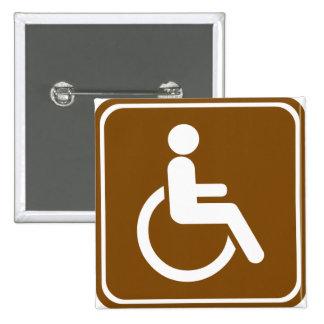 Handicap Accessible Recreational Facilities Sign Pinback Buttons